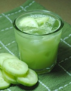 Enjoy the health benefits of cucumber with this fresh cooling cucumber and celery juice