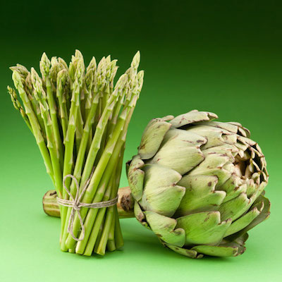 asparagus and artichoke