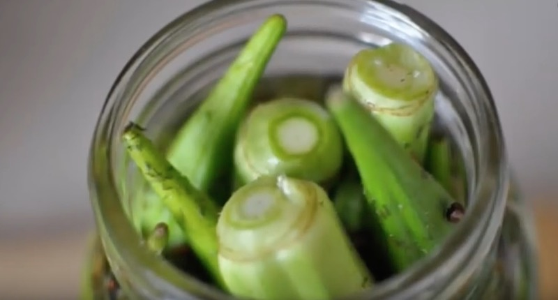 okra in jar