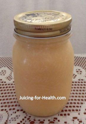 lemon juice in jar