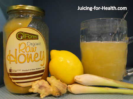 lemon-ginger-honey tea