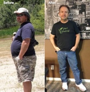 Jeff Searcy green juice cleanse - before and after photo