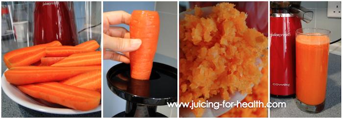 JuicePresso CJP-03 juicing carrots