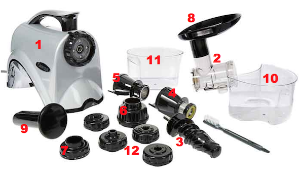 Omega NC800HDS Juicer Parts