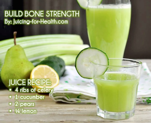 juice for bone and teeth health