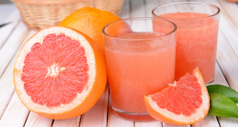 grapefruit juice lowers risks of heart diseases