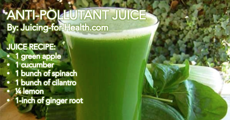 anti-pollutant juice