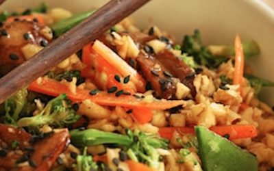 Quick and Easy, Gluten-Free, High Antioxidant Mushroom and Broccoli Stir-Fry