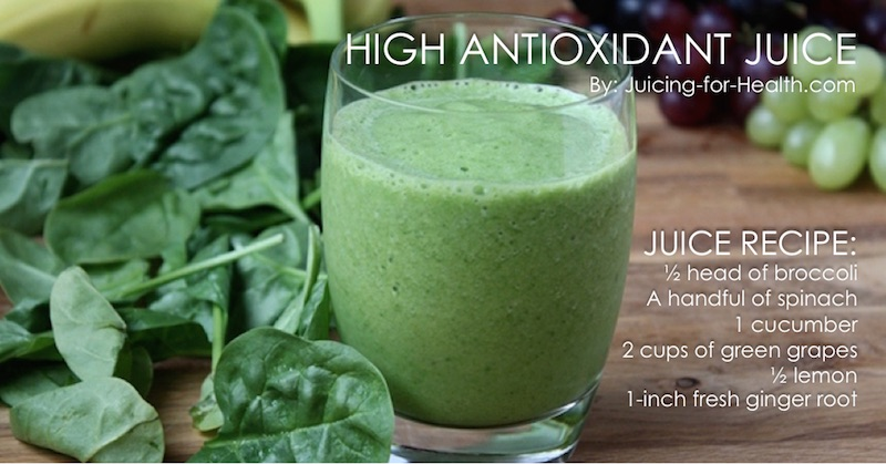 Juice recipes high in antioxidants