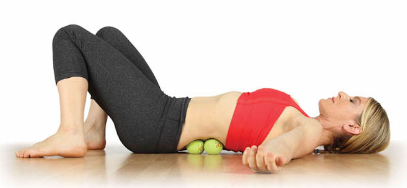 self-massage techniques with tennis ball