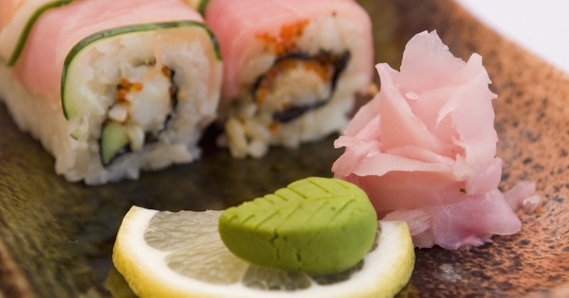 ginger, wasabi and sushi