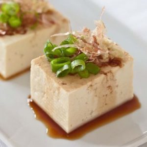 tofu and bonito flakes