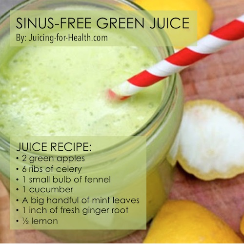 juices to reduce stuffy nose, sinus
