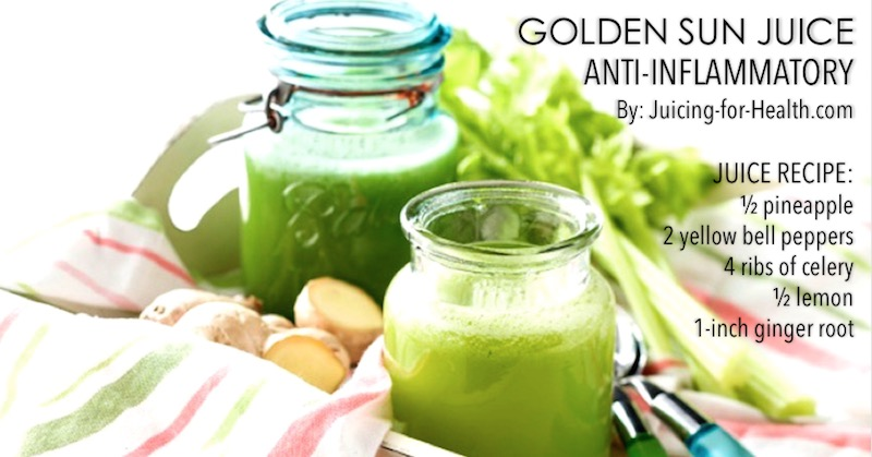juice to relieve tendonitis and soothe inflammation