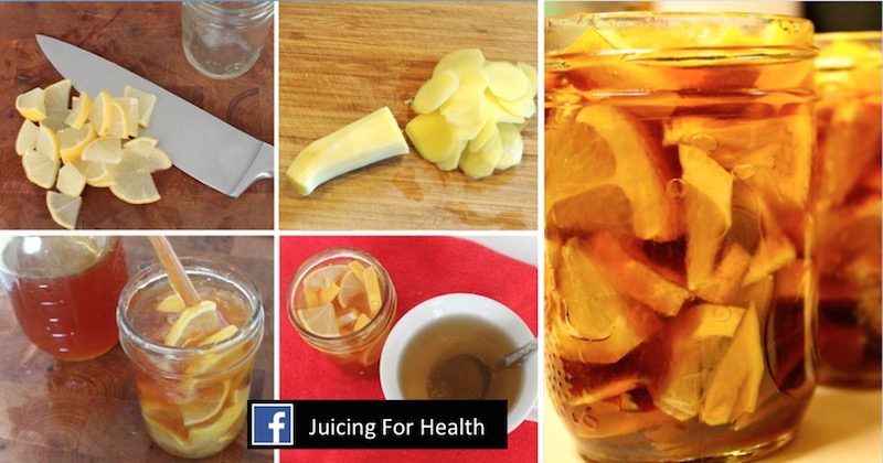 honey ginger lemon calming elixir