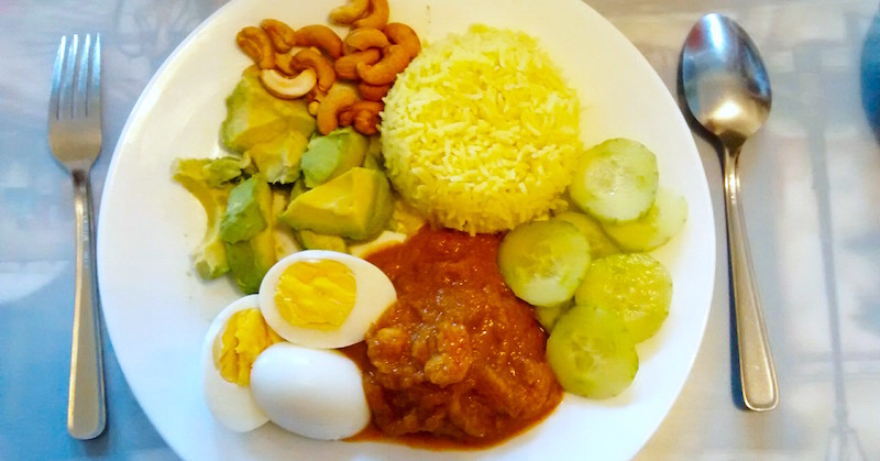 my healthy nasi lemak