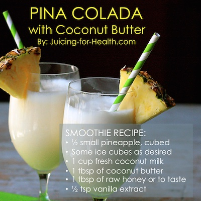 pina colada using coconut butter