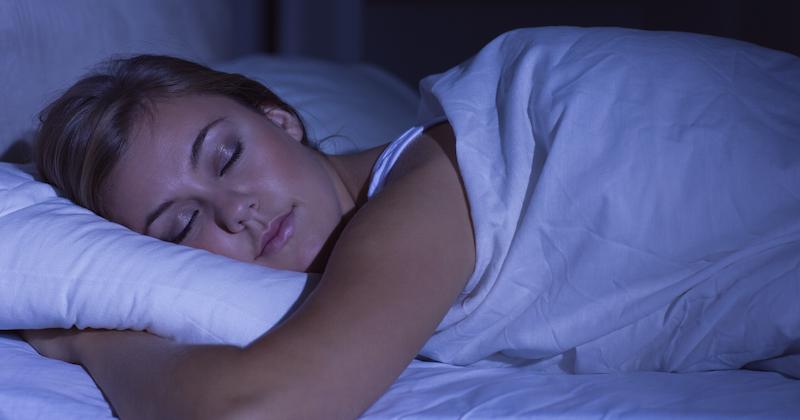 woman deep sleep