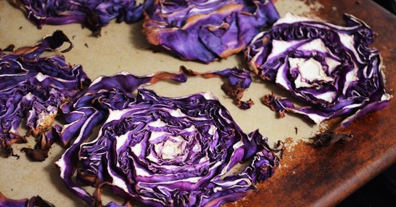 roasted garlic cabbage chips recipe