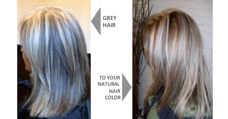 reverse grey hair naturally
