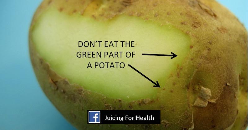 green potato dont eat