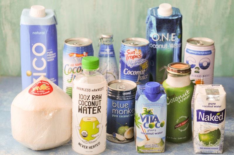 various coconut water brands
