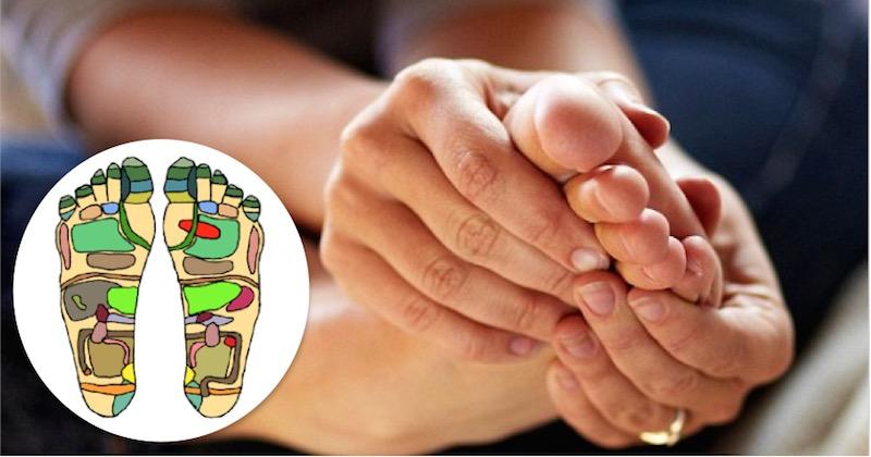essential oils on bottom of feet