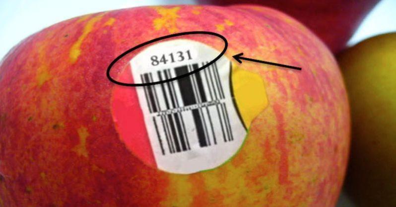 PLU code on apple