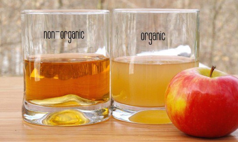 apple cider vinegar with its mother
