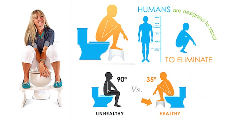 Benefits of squat-pooping