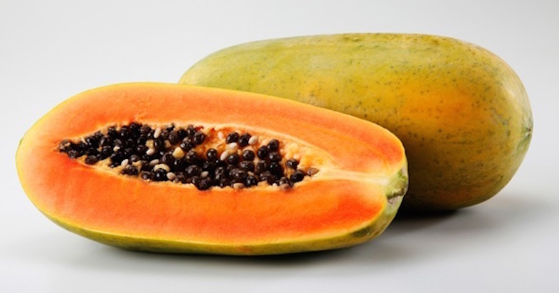 fresh ripe papaya