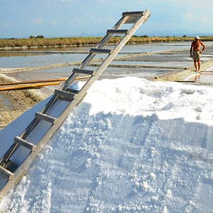 Camillone sea salt drying in Italy