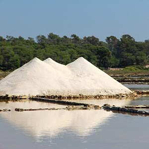 Flor de sel salt pools in Mexico