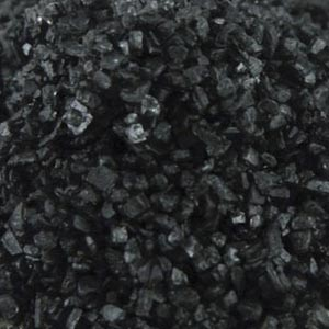 Hawaiian black lava sea salt, USA