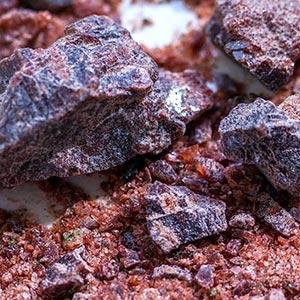Kala Namak rock salt, India