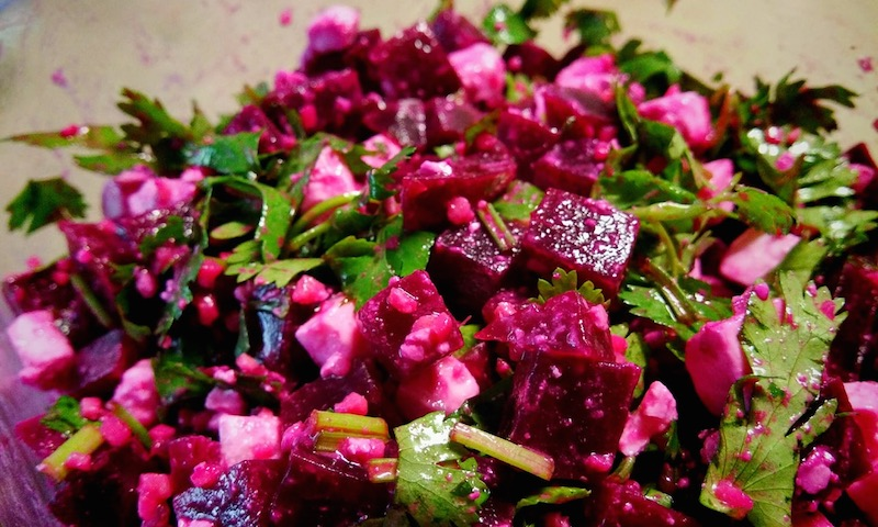 beetroot-feta cheese salad
