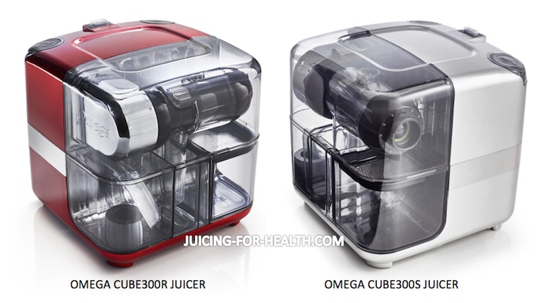 Omega CUBE300 Juicer - Red and Silver