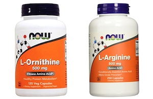 ornithine and arginine