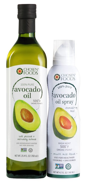 avocado oil and spray