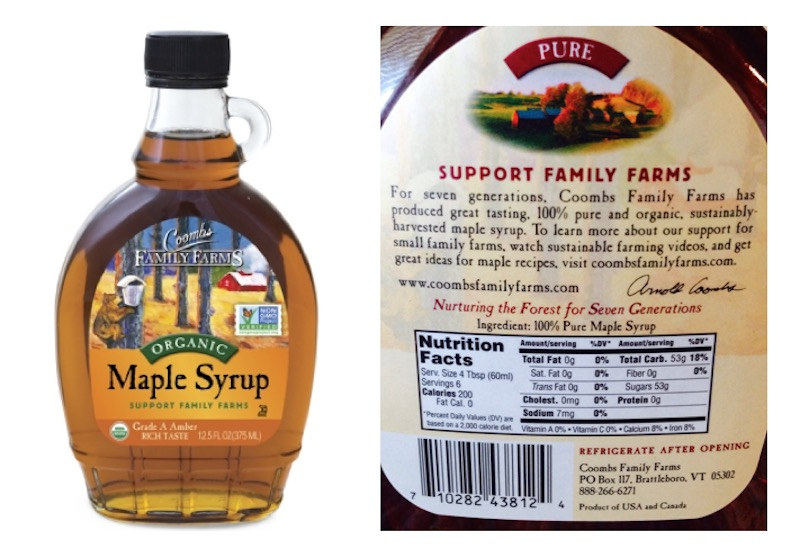 Coombs real maple syrup