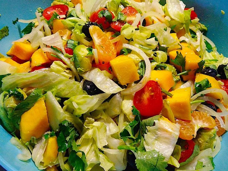 delicious rainbow salad recipe