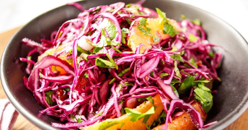 red cabbage-orange salad