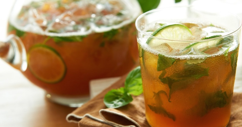 basil-lime tea
