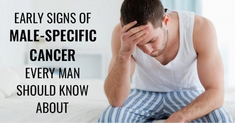 Specific Early Signs Of Cancer In Men That Every Man