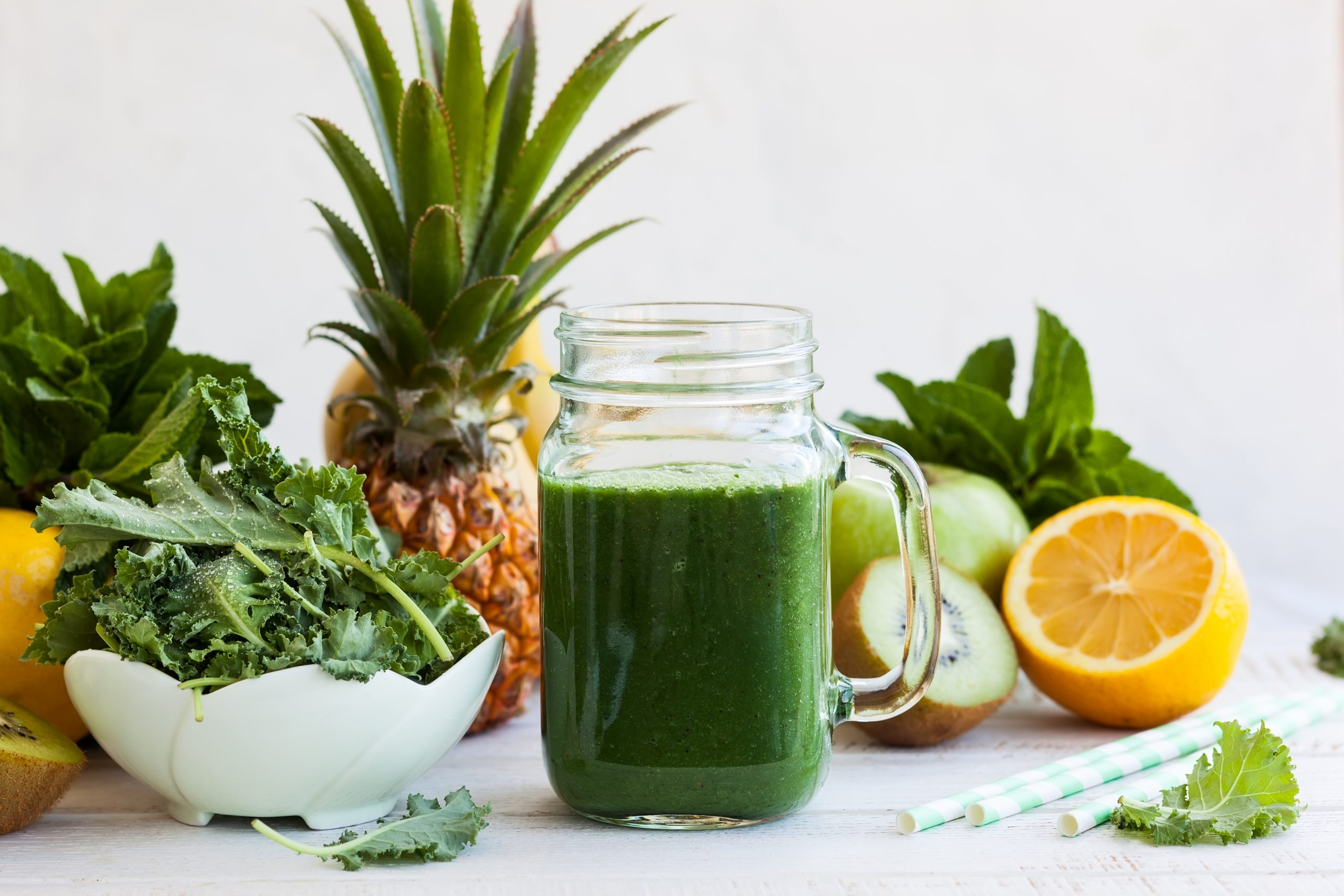 Kale Pineapple immunity boosting juice