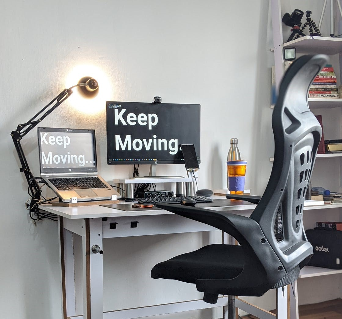 Ergonomic chair and desk